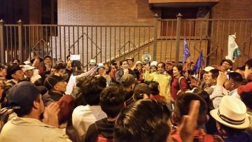 Aktivistinnen und Aktivisten feiern den Stopp des Bergbauprojektes Río Blanco.