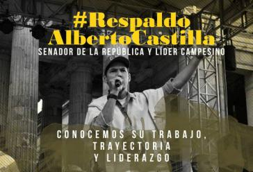 Alberto Castilla wird von einer breiten Kampagne sozialer Bewegungen in Kolumbien unterstützt