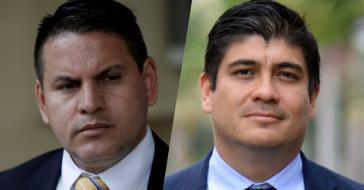 Treten bei der Stichwahl in Costa Rica an: Fabricio Alvarado (links) und Carlos Alvarado