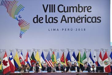 Vertreter der Regierungen auf dem Amerika-Gipfel