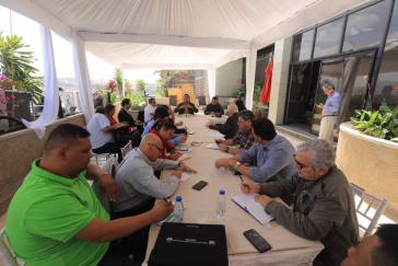 Arbeitstreffen von Regierungs- und führenden Wirtschaftsvertretern zu Fragen der Preisregulierung am Mittwoch in Caracas, Venezuela