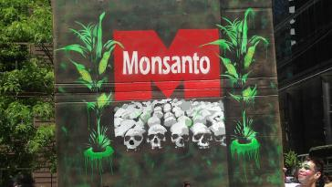 Graffito gegen Monsanto