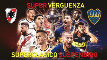"""Nach den Krawallen vor dem Final-Rückspiel zwischen den Rivalen River Plate und Boca Juniors: """"Superschande"""" - """"Superspiel Suspendiert"""""""