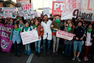 Eine von zahlreichen Demonstrationen beim Generalstreik im September in der Provinz Buenos Aires, Argentinien. Die Proteste gegen die Politik der Regierung Macri und den IWF nehmen weiter zu