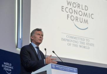 Ein starker Verfechter des Neoliberalismus: Argentiniens Präsident Mauricio Macri, hier beim Weltwirtschaftsforum in Davos 2017