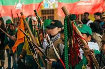 Die indigenen Selbstverteidigungsstrukturen tauschten sich mit anderen Sektoren der Gesellschaft aus