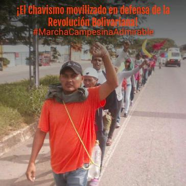 """""""Der Chavismus ist mobilisiert zur Verteidigung der Bolivarischen Revolution"""": Kleinbauern marschieren zum Präsidentenpalast in Caracas, Venezuela"""