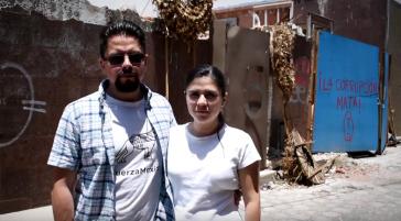 """""""Korruption tötet"""": Zwei der Betroffenen des Erdbebens vom 19. September 2017 in Mexiko-Stadt, die Auskunft für die Studie gaben (Screenshot)"""