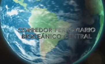 Die Eisenbahnlinie soll  in Südamerika den Atlantischen und den Pazifischen Ozean verbinden (Screenshot)