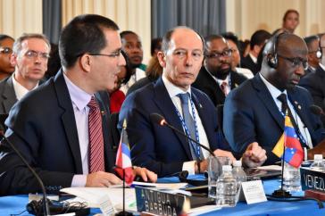 Außenminister von Venezuela, Jorge Arreaza, bei der OAS-Sitzung