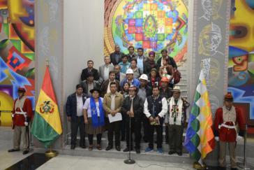 Repräsentanten der Conalcam erklärten ihre Unterstützung für eine erneute Amtszeit von Präsident Evo Morales in Bolivien