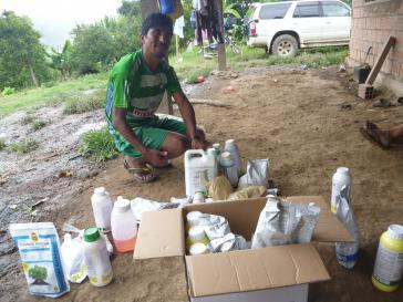 Kleinbauer und Pestizideinsatz in Bolivien