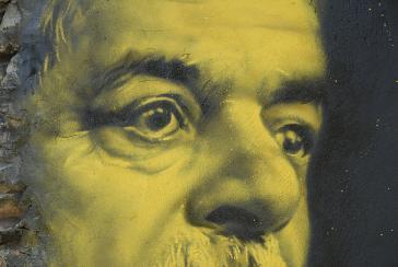 Wandgemälde von Lula da Silva: Der beliebte Politiker wurde inhaftiert und darf bei den Wahlen im Oktober nicht antreten