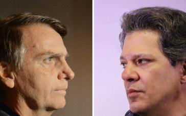 Die Kandidaten Bolsonaro und Haddad stehen sich heute in Brasilien gegenüber