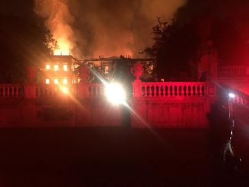 Brand im Nationalmuseum von Brasilien