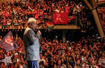 Lula da Silva bei einem Wahlkampfauftritt in Brasilien