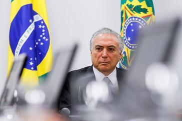 Angeklagt: Brasiliens De-facto Präsident Michel Temer