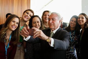 Brasiliens De-facto-Präsident Temer:  nur zwei Prozent Zustimmung in der Bevölkerung, aber Putsch-Ziele erreicht