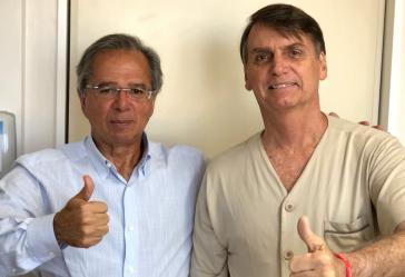 Der zukünftige Superminister Paulo Guedes (li.) und Brasiliens designierter Präsident Jair Bolsonaro
