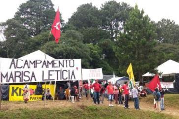 Das Widerstandscamp in Solidarität mit Lula da Silva in Brasilien ist nach seiner verstorbenen Ehefrau Marisa Leticia benannt