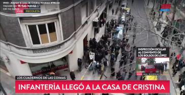 Die Wohnung Kirchners im Stadtteil Recoleta in Buenos Aires wurde mit großer medialer Begleitung durchsucht