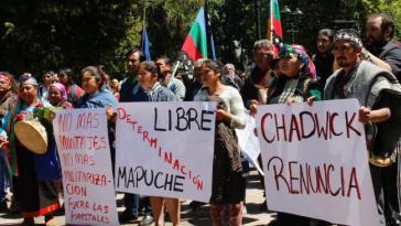 In der chilenischen Stadt Temuco gab es starke Proteste gegen die Militärpolizei und für den Schutz der Mapuche