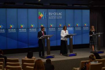 Pressekonferenz nach dem EU-Celac-Gipfel in Brüssel