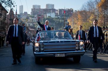 Chiles Präsident Sebastian Piñera am 1. Juni auf dem Weg zum Kongress