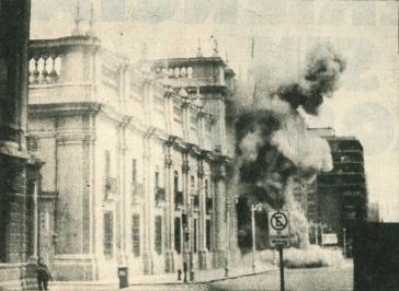 Angriff der Putschisten auf den Präsidentenpalast in Chile am 11. September 1973