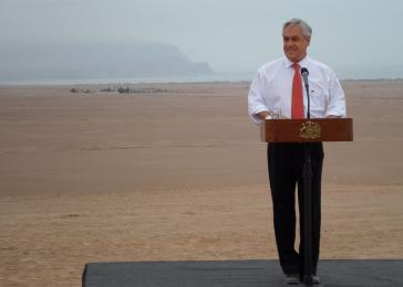 Sebastián Piñera während seiner ersten Amtszeit in Chile im Jahr 2012