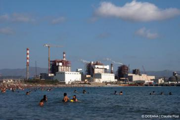 Industrie in der Bucht von Quintero, Chile