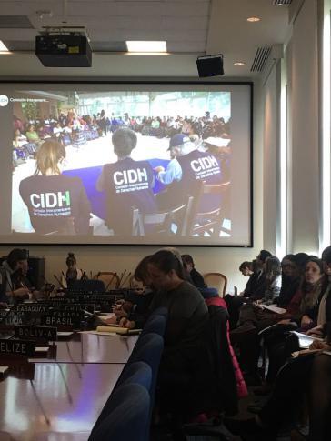 Die Interamerikanische Menschenrechtskommission bei ihrer Sitzung am vergangenen Dienstag in Washington