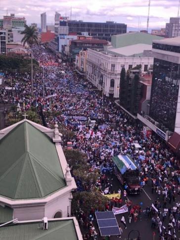 Die Proteste von Gewerkschaften in Costa Rica dauern nun schon mehrere Monate. Hier ein Foto aus dem Juli dieses Jahres