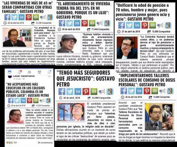 Die  Verbreitung von Propaganda gegen Petro in Kolumbien geht mit der Zunahme der Zustimmung für ihn in Umfragen einher