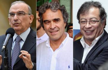 Von links nach rechts: Die Kandidaten für die Präsidentschaftswahl in Kolumbien Humberto de la Calle, Sergio Fajardo und Gustavo Petro sollen eine Kolation eingehen (Kollage Amerika21)