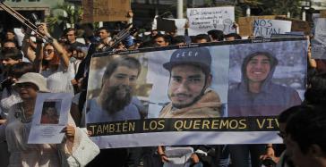 Javier Salomón, Marco Àvalo und Daniel Díaz - die drei noch immer verschwundenen Filmstudenten