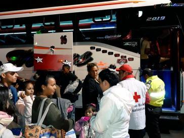 In Ecuador wurde ein Korridor eingerichtet, um venezolanische Migranten schnellstmöglich nach Peru weiterzuleiten