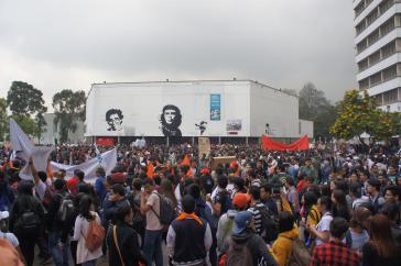 Friedlicher Protest der Studierenden