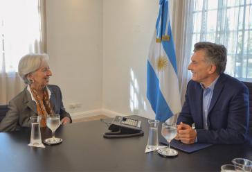 Der argentinische Präsident Mauricio Macri traf im Vorfeld die IWF-Direktorin Christine Lagarde