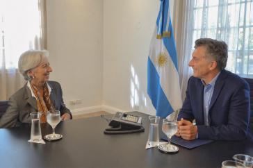 Der argentinische Präsident Mauricio Macri bittet in diesen Tagen den IWF um Chefin Christine Lagarde um Kredite in Milliardenhöhe (hier bei einem Treffen im März)