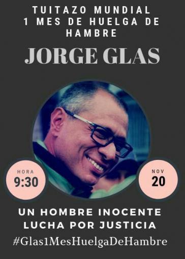 Am 20. November fand eine weltweite Twitter-Aktion zur Unterstützung von Jorge Glas statt
