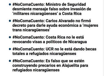 """Aufgedeckt : In Costa Rica verbreitete """"Fake News"""" gegen Zuwanderer aus Nicaragua"""