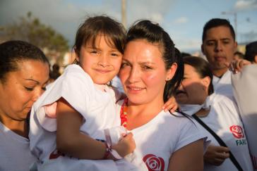 Anwesend in der Hauptstadt von Kolumbien waren viele Unterstützer der neuen Linkspartei und ehemalige Rebellen
