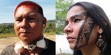 Portraits von Diogo Anhio Juruna und Shirley Djukurnã