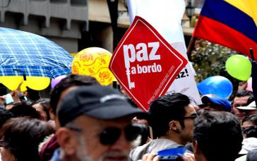 Die Bevölkerung in Kolumbien fordert Frieden
