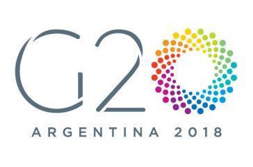 Offizielles Logo des G20-Gipfels 2018, der am 30.11. und 1.12. in Buenos Aires stattfindet