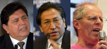 Alan García, Alejandro Toledo, Pedro Pablo Kuczynski (v.l.n.r.), Ex-Präsidenten von Peru