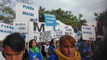 In vielen Städten des Landes streikten Tausende und gingen auf die Straße, wie hier in Chaco