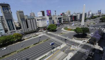 Buenos Aires am vergangenen Montag. Alle Gewerkschaftsverbände des Landes beteiligten sich am Generalstreik