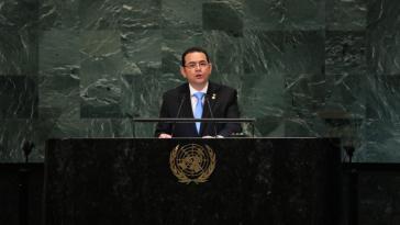 Guatemalas Präsident Jimmy Morales erhob vor der UN-Vollversammlung schwere Vorwürfe gegen die Internationale Kommission gegen die Straflosigkeit (CICIG)
